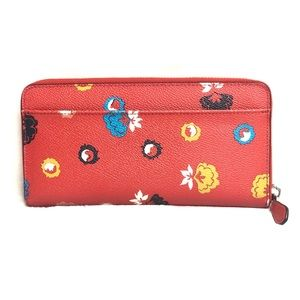 Coach Bags - Coach Floral Red Wallet